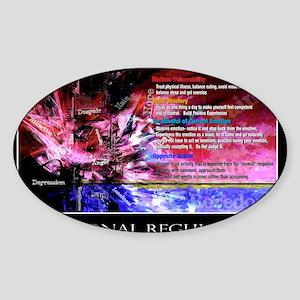 Emotional Regulation lg Poster Sticker (Oval)