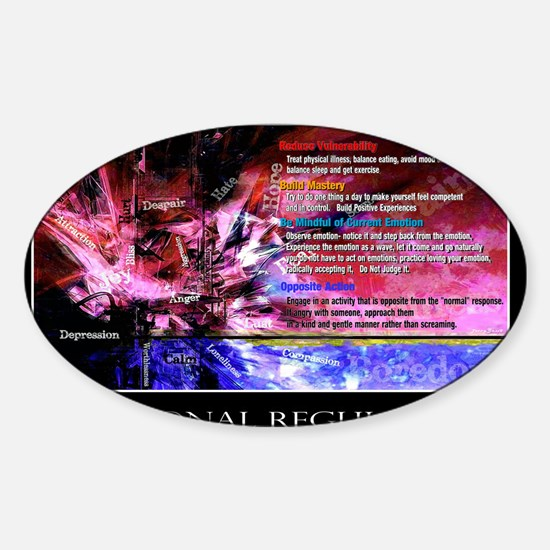 Emotional Regulation lg Poster Sticker (Oval)