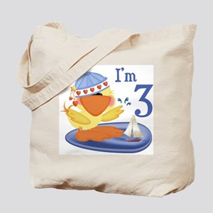 Duckie Boy 3rd Birthday Tote Bag