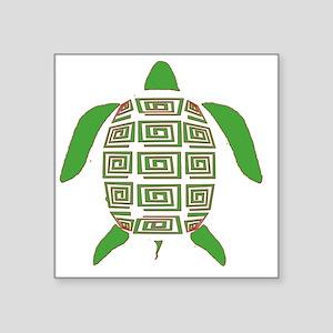 """GREEN SEA TURTLE Square Sticker 3"""" x 3"""""""