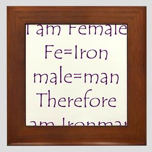 Female Ironman Framed Tile