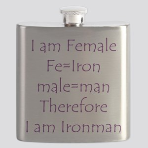 Female Ironman Flask