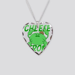 cheese strong Necklace Heart Charm