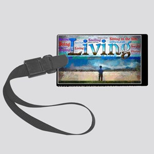 Living lg Poster Large Luggage Tag