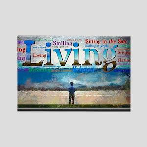 Living lg Poster Rectangle Magnet