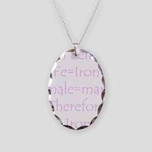 Female Ironman Necklace Oval Charm