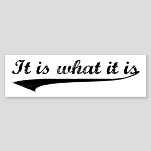 IT IS WHAT IT IS #2 Bumper Sticker