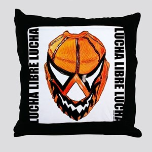 Mexican Wrestling Mask T-Shirt Throw Pillow