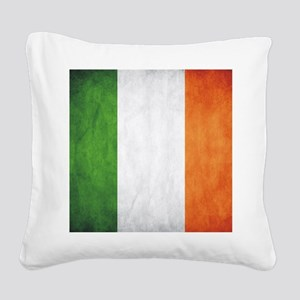 Irish Flag Square Canvas Pillow