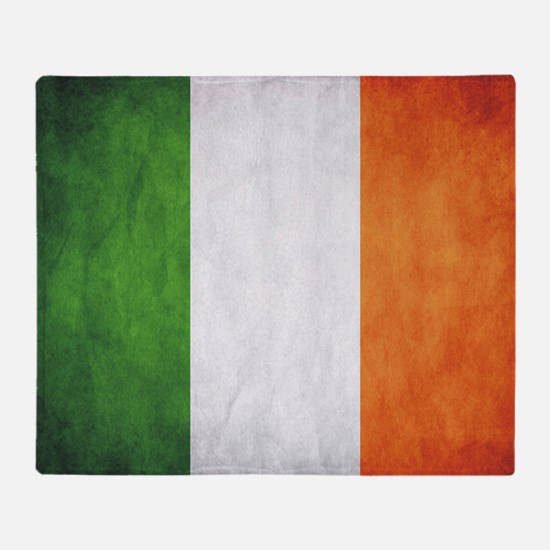 Irish Flag Throw Blanket