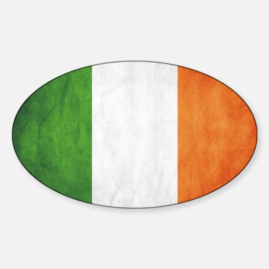Irish Flag Sticker (Oval)
