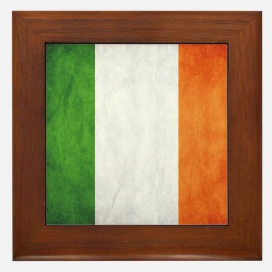 Irish Flag Framed Tile