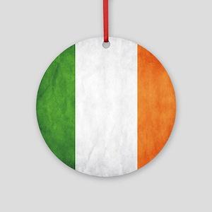 Irish Flag Round Ornament