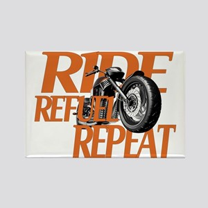 Ride, Refuel, Repeat Rectangle Magnet
