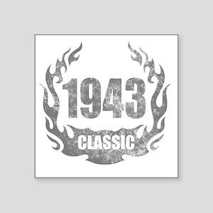 "1943 Classic Grunge Square Sticker 3"" x 3"""