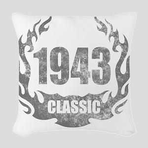 1943 Classic Grunge Woven Throw Pillow