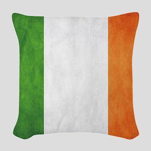 Irish Flag Woven Throw Pillow