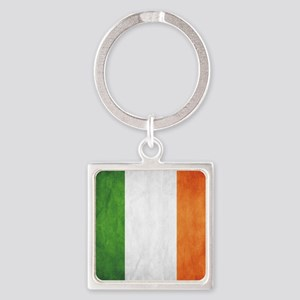 Irish Flag Square Keychain