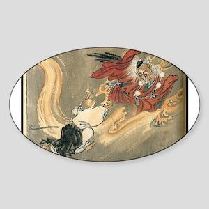 Tengu Battle Oval Sticker