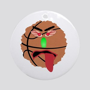 Funny March Madness Basketball Round Ornament