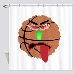 Funny March Madness Basketball Shower Curtain