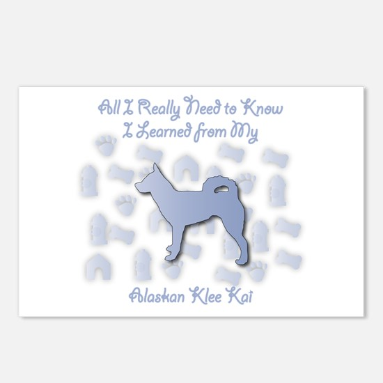 Learned Klee Kai Postcards (Package of 8)