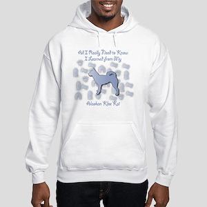 Learned Klee Kai Hooded Sweatshirt