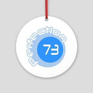 Seventy Three 73 Prime Perfection Round Ornament