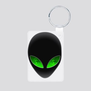 Cool Alien Earth Eye Refle Aluminum Photo Keychain