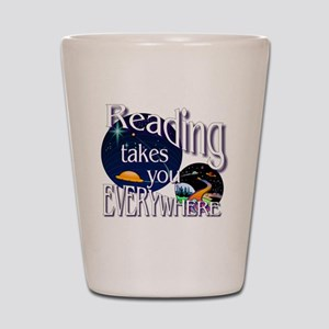 Reading Takes You Everywhere BL Shot Glass