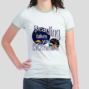 Reading Takes You Everywhere BL Jr. Ringer T-Shirt