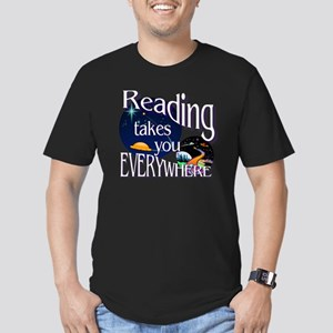Reading Takes You Ever Men's Fitted T-Shirt (dark)