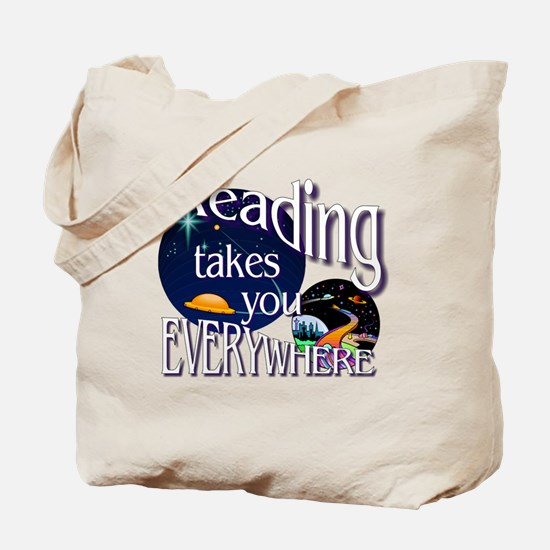 Reading Takes You Everywhere BL Tote Bag