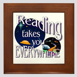 Reading Takes You Everywhere BL Framed Tile
