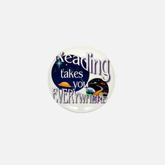 Reading Takes You Everywhere BL Mini Button