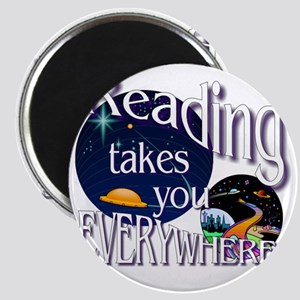 Reading Takes You Everywhere BL Magnet