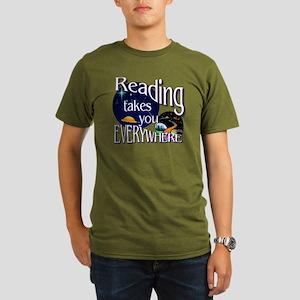 Reading Takes You Eve Organic Men's T-Shirt (dark)