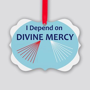 I Depend on Divine Mercy Picture Ornament
