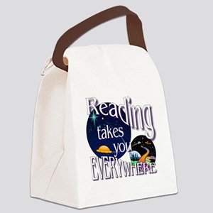 Reading Takes You Everywhere BL Canvas Lunch Bag