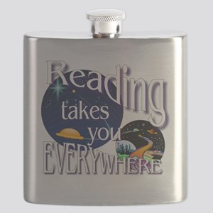 Reading Takes You Everywhere BL Flask