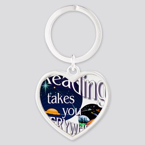 Reading Takes You Everywhere BL Heart Keychain
