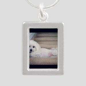 Sadie 5 Silver Portrait Necklace