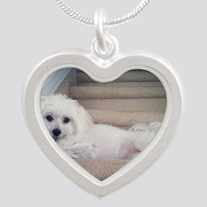Sadie 5 Silver Heart Necklace