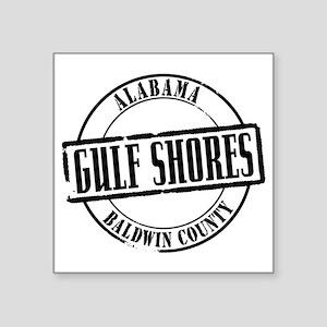 """Gulf Shores Title W Square Sticker 3"""" x 3"""""""