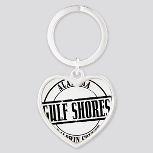 Gulf Shores Title W Heart Keychain
