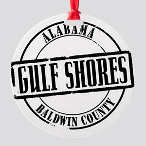 Gulf Shores Title W Round Ornament