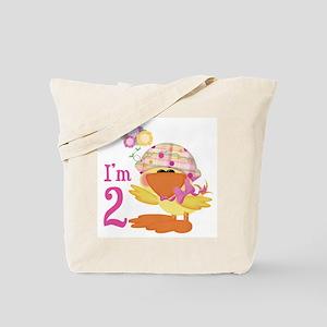 Duckie Girl 2nd Birthday Tote Bag