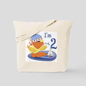 Duckie Boy 2nd Birthday Tote Bag