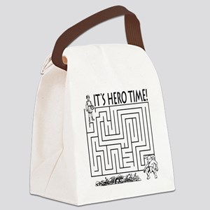 Its Hero Time Canvas Lunch Bag