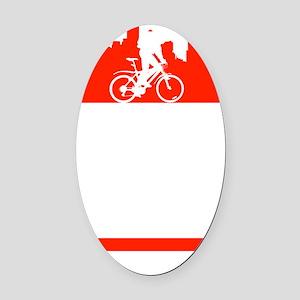 Bike Boston Oval Car Magnet